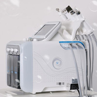 ingrosso idrorepellente facciale peeling-6in1 H2-O2 Hydra dermoabrasione Aqua Peel RF bio-lifting facciale Spa Hydro Acqua microdermoabrasione facciale dello spruzzo di ossigeno macchina fredda del martello