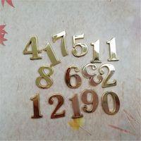 Wholesale New 50PCS 1.5CM Plastic Gold Arabic Numbers for DIY Repair Quartz Clock Accessories FIT-UP
