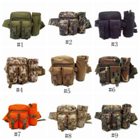 Wholesale army hiking bags for sale - Group buy Tactical Waist Bag Multifunction Army Fan Outdoor Hiking Package for Men Women Sport Packet Camouflage Travel Kettle Package LJJZ463