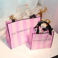 ingrosso borsa da toeletta esterna-VS Cosmetic Bag Pink Kit da toilette INS Borse da viaggio Outdoor Fashion Sacchi impermeabili per grandi capacità