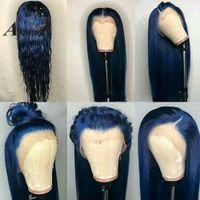 ingrosso nuove parrucche piene del merletto-Nuovo 180 gradi di capelli biondi lunghi 32 pollici brasiliani parrucca con capelli sintetici parrucca anteriore parrucca glueless parrucca nera per le donne nere