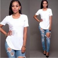 new boy shirt design toptan satış-Moda En Kaliteli Pamuk Kesim Pug Baskı Kadın T Gömlek Gündelik O-Boyun Kadın T-Shirt Yeni Tasarım Kadın Tişörtlerin Kadın