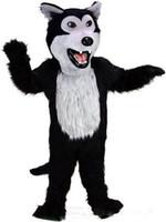 ingrosso costumi di compleanno per adulti-l'abitudine del fumetto di camminata della festa di compleanno dei costumi della mascotte del lupo di alta qualità di personalizzazione abbiglia il formato adulto Trasporto libero