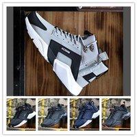 ingrosso scarponi da neve gialli-2019 Huaraches 4 Designer Stivali High Top Mens Inverno Stivaletti da neve Chaussures Homme Escursioni Sneakers Scarpe Eur40-46