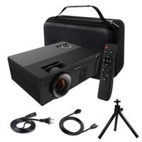 micro projecteurs usb achat en gros de-Vidéoprojecteur Mini projecteur de 2400 lumens avec projecteur de théâtre sur pied prenant en charge 1080p | HDMI VGA AV USB Micro SD pour la fête familiale