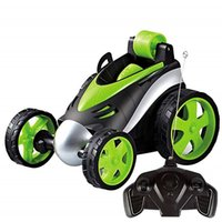 vehicle оптовых-Wireless Remote Control Stunt Dancing RC Car Boy Children's Toys 360 Tumbling Roller Rotating Wheel Vehicle Toy
