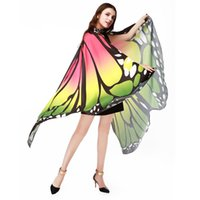 Wholesale red belly dancing scarves resale online - Best Selling HOT Women Butterfly Wings Pashmina Shawl Scarf Nymph Pixie Poncho Soft Fabric Cloak Stylish Trendy Party Costume Accessory