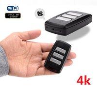 ingrosso telecamere di registrazione attivate-Telecamera IP WIFI 4K Mini telecamera con chiave auto DVR FULL HD 1080P H2.64 videoregistratore portachiavi con Motion Activated Recording