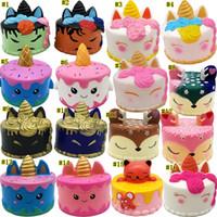 denizkuyusu için oyuncaklar toptan satış-Yumuşacık Toys squishies Tavşan kaplan boynuzlu at kek panda ananas ayı pasta denizkızı Yavaş Rising sıkın Sevimli Kayış hediye MMA1923-1