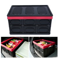 Wholesale car fish box resale online - Car Styling Collapsible Rear Auto Trunk Organizer Folding Tidying Bucket Storage box Outdoor Camping Fishing Travel Trip Supplie