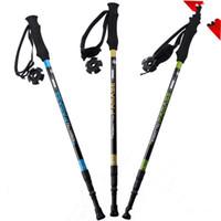 Wholesale walking stick fiber for sale - Group buy Three Quarters Trekking Pole Carbon Fiber Walking Stick Straight Shank Pamase Alpenstocks Ultra Light Carbon Non Slip mm C1