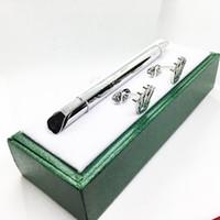 ingrosso scatole del gemello-Penna famosa Design unico Articoli di cancelleria per penne regalo Penna a sfera di lusso, gemello, confezione regalo verde