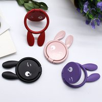 Wholesale red rabbit ring for sale - Group buy Playful Rabbit Magnetic Car Ring Mobile Phone Ring Buckle Bracket Metal Creative Cartoon with Cute Female Models Custom