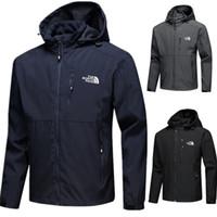 ingrosso smontabile-Sport marca mens designer giacche cappotti The North giacca a vento viso elasticizzato softshell staccabile cappuccio tench coat outwear impermeabile C8702