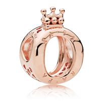 pandora venda por atacado-2019 Luxo Designer de 925 Sterling Silver Pandora Encantos Para Senhoras DIY Pulseiras Beads S ALE Mulheres Charme Com Crown Amarelo Rosa de Ouro Barato