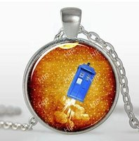 Wholesale doctor pendants for sale - Group buy 2019 new fashion pendant necklace Fashion Doctor Who Time Machine Pendant Glass Cabochon Necklace
