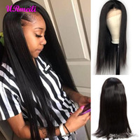 Wholesale black women full wigs for sale - Group buy 360 Full Lace Human Hair Wigs Pre Plucked With Baby Hair Straight Brazilian Remy Human Made Hair Lace Front Wigs For Black Women