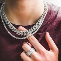 ingrosso bling collane di nozze-Blinged Bling Wedding Engagement Diamondss collana per uomo donna 18