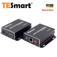 Wholesale TESmart M HDMI KVM Extender TCP IP Ethernet Over Single Cat5e cat6 Cable P IR Remote Up to ft One Sender One Receiver