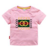 marca camiseta chicas al por mayor-Ropa de diseñador para niños Chica Baby Boy Moda Estampado de algodón Ropa de diseñador Diseñador para hombre T-Shirt Marca de moda transpirable Lujo 2E-26
