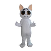 Wholesale outfits for mascots resale online - White Duomi Cat Mascot Costume Outfits Adult Size Shrimp Cartoon Mascot costume For Carnival Festival Commercial Dress