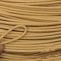 synthetische materialien großhandel-Runde Möbel PET-Rattan Plastiknachahmung spinnender Rohstoff des synthetischen Rattans für Tischstuhl-Korbkomponente im Freien
