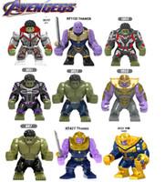 koruma blokları toptan satış-7 cm Büyük Minifigured Avengers 4 Endgame DC Thanos Yapı Taşları Tuğla Thor'un arkadaşı Korg Hulk Chitauri Bebekler Oyuncaklar Için Children111
