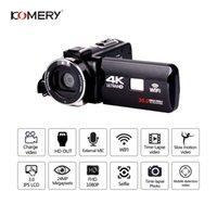 melhor câmera por preço venda por atacado-KOMERY Original 4K Video Camera Suporte Wifi Night Vision 3.0 polegadas LCD Touch Screen Camera Fotografica melhor qualidade baixo preço