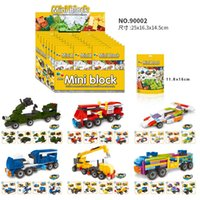 Wholesale block cars for sale - Group buy 24 boxes in one set types of assembled car particles assembled building block plastic DIY children s educational toys