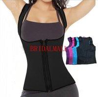 empuje para arriba el corsé de la mujer al por mayor-Las mujeres negras de la cremallera se ajustan el chaleco absorbente de la cintura que forma el corsé corte abdomen corsé abdomen cinturón