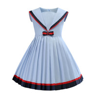 Wholesale kids girls dress free shipping for sale - Group buy INs NEW arrival Hot selling summer Girls Short dress high quality cotton kids big plaid bow dress Multi colors