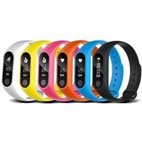 bracelets de santé de qualité achat en gros de-M2 Smart Bracelet Moniteur de fréquence cardiaque bluetooth Smartband Santé Fitness Tracker Smart Band Bracelet pour Android iOS Top Qualité
