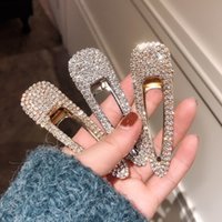 ingrosso bobby flash-Clip di capelli di goccia del diamante delle donne della forcella piena del diamante Super Flash Bobby Pin Popolare Prova di prova d'argento dorata 3 8xy C1