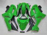 zx6r verde al por mayor-Venta caliente kit de carenado para Kawasaki Ninja 636 ZX6R 2007 2008 carenados de carrocería negro verde conjunto ZX6R 07 08 MT22