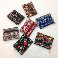 parti çantaları toptan satış-7 stilleri Çiçek Çocuk Kız Cüzdan Paraları Çift Fermuarlı Kese Kadın Sikke çanta Kadın Anahtar Kart Tutucu çanta parti favor hediye FFA2754