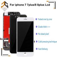 reemplazos de pantalla lcd para teléfonos al por mayor-10PCS para el iPhone 7 8 7plus 8plus Pantalla LCD táctil digitalizador Módulo de montaje de 3D reemplazo 4,7