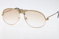 büyük sıcak küçük kadınlar toptan satış-Ücretsiz Kargo Erkek Güneş Gözlüğü 18 K Altın Vintage Kadınlar tasarımcı Gözlük Sıcak Unisex Güneş Gözlükleri 1112613 Güneş Gözlüğü Küçük Büyük Taşlar Gözlük