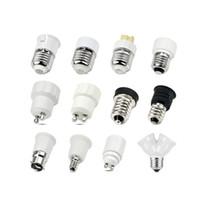 Wholesale e27 e12 adapter for sale - Group buy Led Lamp Bulb Base Conversion Holder Converter Socket Adapter GU10 G9 B22 E27 E14 E12 Fireproof Material For Home Light Lighitng SY0426