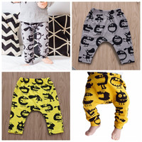 Wholesale kids leggings boys resale online - Newborn baby boy leggings hot sell little monster bottom cotton harem trousers kids loose boy trousers
