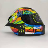 k3 adesivos venda por atacado-Nova K3 SV Design Capacete Moto Capacete Face Completa Livre AGV Etiqueta Capacete Da Motocicleta