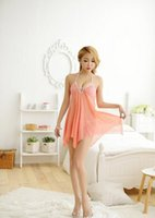 Wholesale harnesses gauze resale online - Sexy lingerie new beads gauze spandex harness sexy pajamas perspective dress