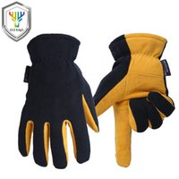 wildlederhandschuhe männer großhandel-OZERO Motorradhandschuhe Winter -20F Cold Proof Thermal Herren Warmhandschuh Moto Racing Hirschleder Wildleder Skihandschuhe 8007