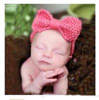 photo de fille de bébés achat en gros de-Bandeaux Enfants Bébé Fille Princesse Tricoté Élastiques Accessoires Photo Bandeaux Bandeaux 9 Styles Bandeau Cheveux