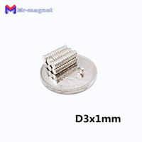 Wholesale rare earth disc magnets sale online - 2019 imanes hot sale degree Super Strong Fridge Magnet D3x1mm x1 mm N35 permanant Rare Earth magnets mm x mm Axial magnetized