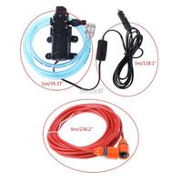 bombas de agua eléctricas 12v al por mayor-12 V Portátil 100 W 160 PSI autocebante de alta presión Lavadora de autos eléctricos Lavadora Encendedor de cigarrillos con bomba de agua