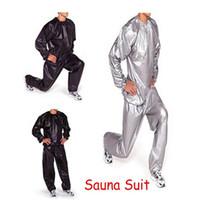gewichtsverlust übungen großhandel-Mann Frau Unisex Fitness schlanker schlank Übung Training Schweiß Sauna Anzug heißer Verkauf Gewichtsverlust Sauna Anzug Set
