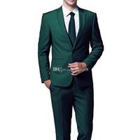 костюм мужчин блестящий коричневый оптовых-Сшитое на заказ жениха зубчатый отворот жениха смокинги одна кнопка мужские костюмы свадьба / выпускной блейзер / жених (куртка + брюки + галстук)