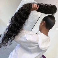Wholesale curly hair clip pony tails resale online - Wet wavy Clip In Hair horseTail brazilian curly g Ponytail Hairpiece With Hairpins Human Hair Pony Tail Hair Extensions