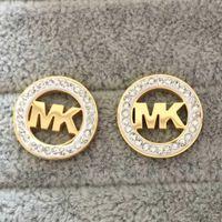 design de boucles d'oreilles en or achat en gros de-Top qualité prix de gros K marques boucles d'oreilles oreille conception Stud boucles d'oreilles or argent G lettre en acier inoxydable pour les femmes