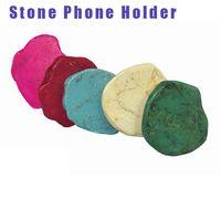 ingrosso telefoni schermi da 7 pollici-Il più nuovo regalo del telefono di pietra del regalo di Halloween ABS naturale irregolare del turchese Air Sac Mobilephone si leva in piedi i supporti di marmo creativi di scintillio